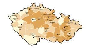 Mapa tvrdosti vody v ČR