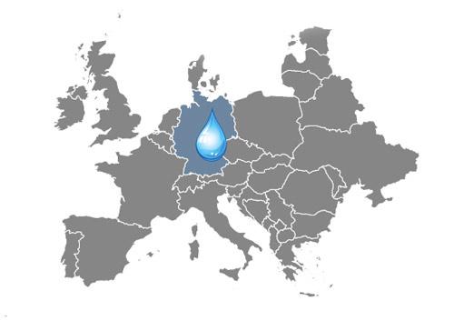 Mapa zaujímavosti o vode Nemecko