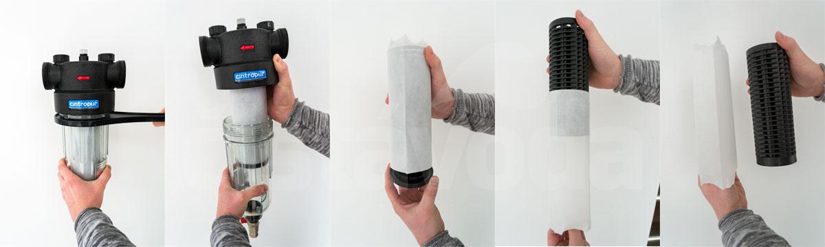 vodný filter Cintropur NW25 - výmena filtračnej vložky