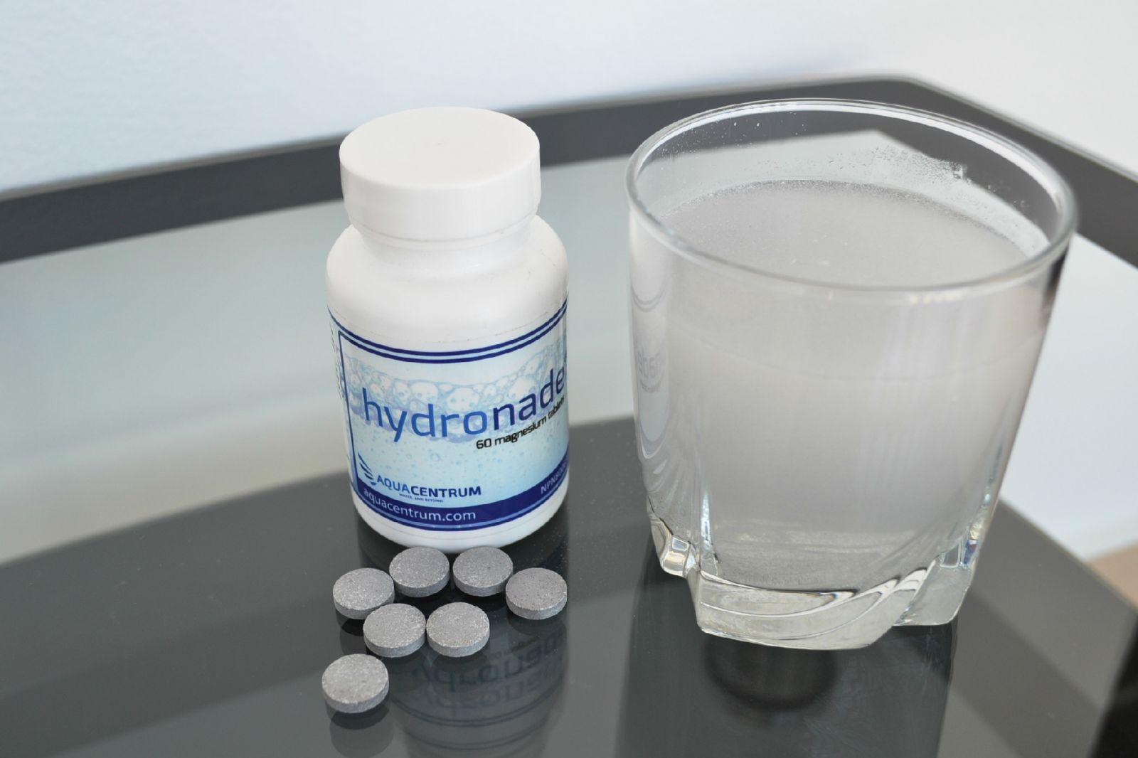 Šumivé tablety Hydronade s obsahom horčíka a molekulárneho vodíka