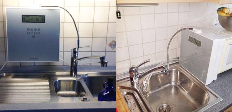 Ionizátor vody v kuchyni