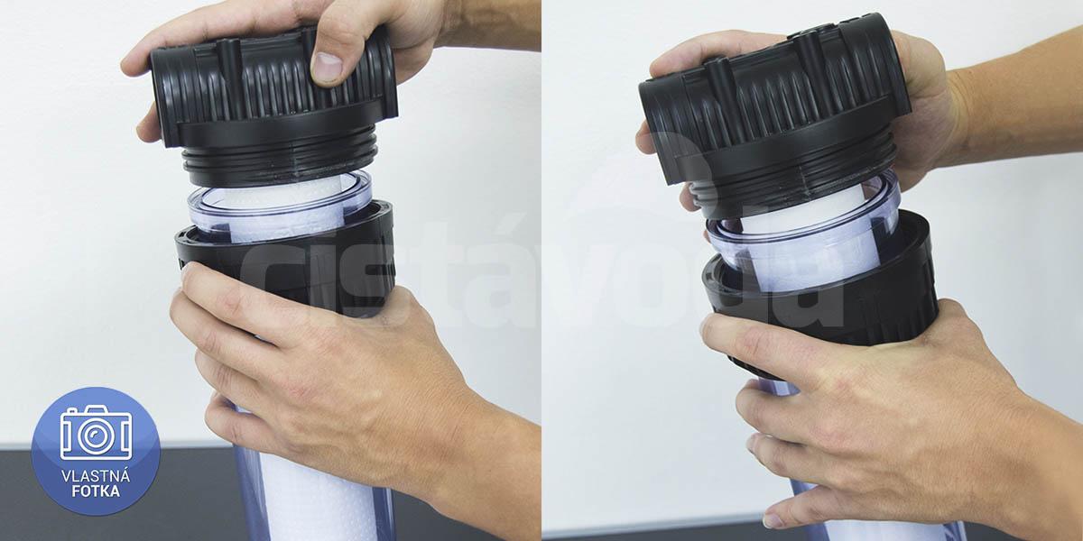 Výmena mechanickej filtračnej vložky v potrubnom filtri