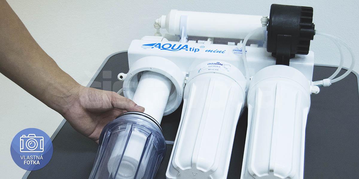 Výmena mechanickej filtračnej vložky v reverznej osmóze