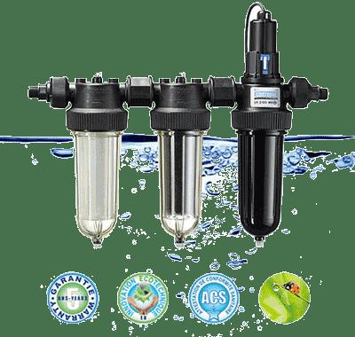Viacúčelové filtre na vodu Cintropur TRIO-UV