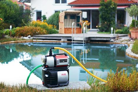 Domáca vodáreň AL-KO HW 4000 FCS Comfort v záhrade