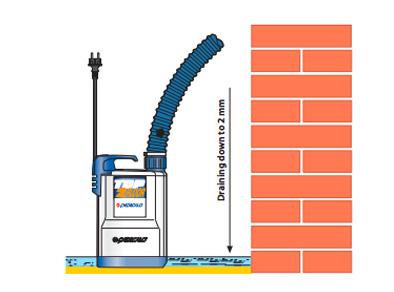 Drenážne čerpadlo na vodu Pedrollo TOP FLOOR 1 schéma inštalácie