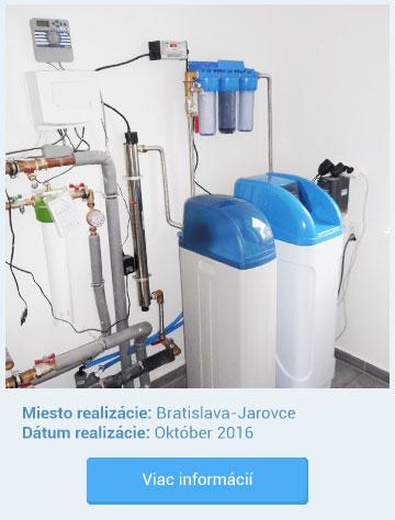 Realizácia inštalácie zmäkčovača vody Bratislava - Javorce