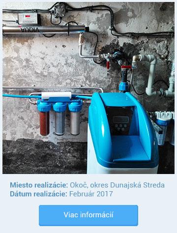 Realizácia inštalácie zmäkčovača vody Okoč