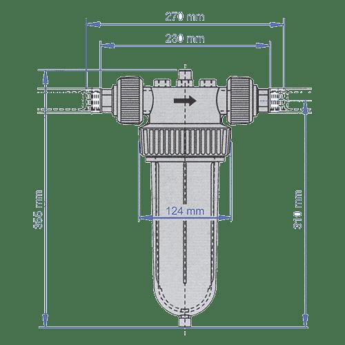 Schéma mechanický filter Cintropur NW25