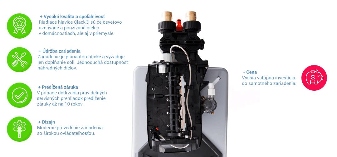 Výhody a nevýhody katexových zmäkčovačov vody Aquatip Logix