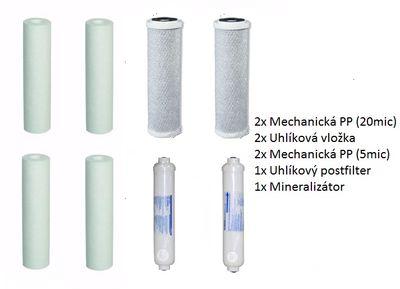 Sada 8 filtračných vložiek (min. 1 rok)